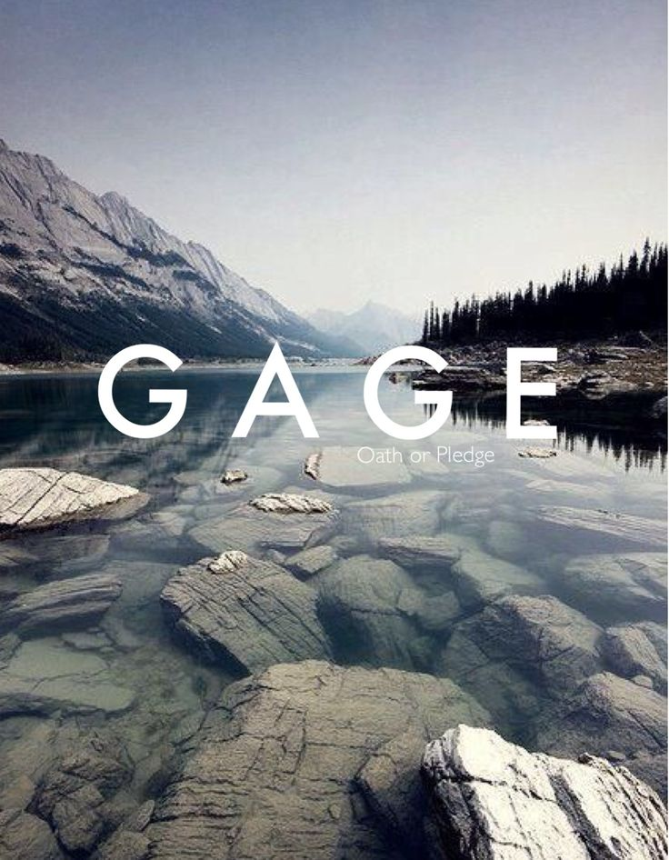 Gage / path or pledge (by Samantha Harrington)