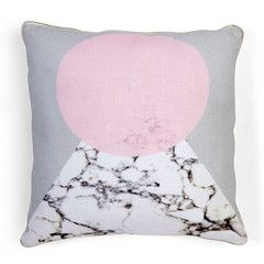 White Marble Triangle Cushion