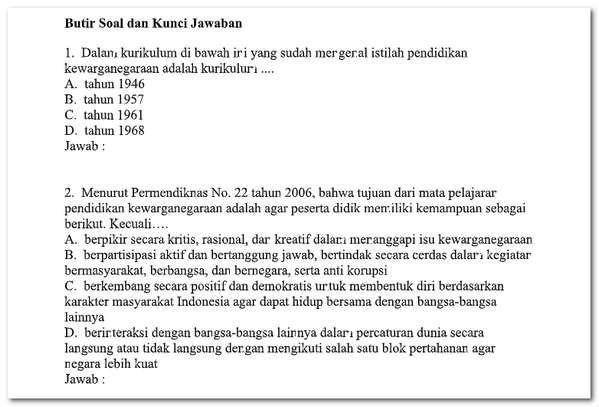 Soal Ujian Ut Pdgk 4201 Tahun 2018 Matematika Bahasa Indonesia Ipa Pkn Matematika Ipa Bahasa Indonesia
