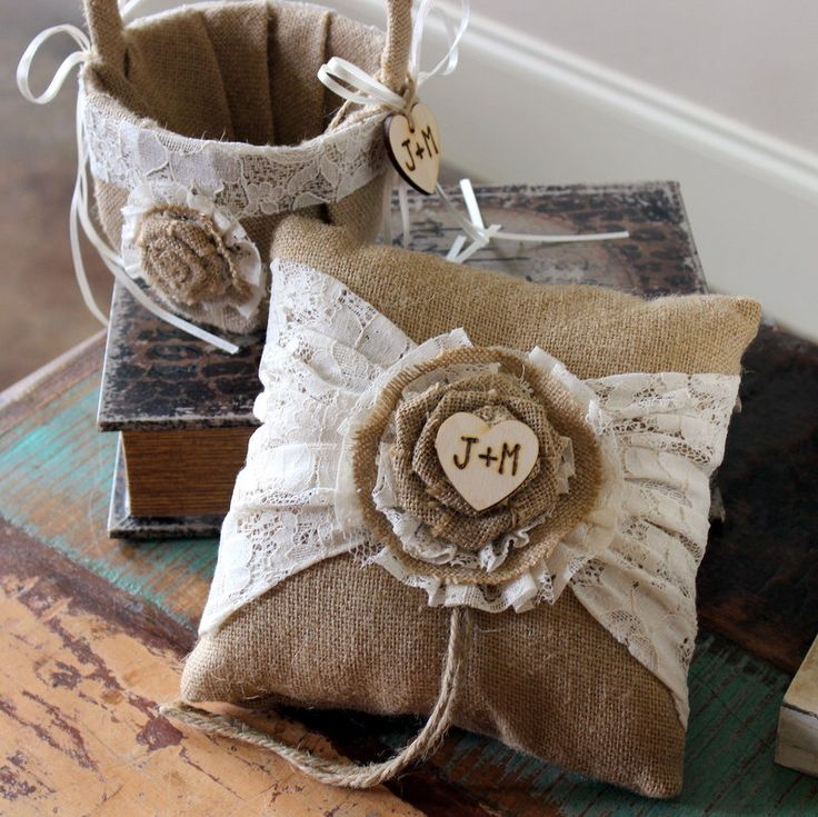 Flower Girl Baskets Burlap And Lace : Best images about burlap and lace rustic wedding on