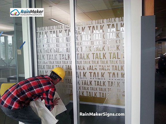 Best Frosted Etched Vinyl Window Graphics Images On - Custom vinyl decals for glass removal options