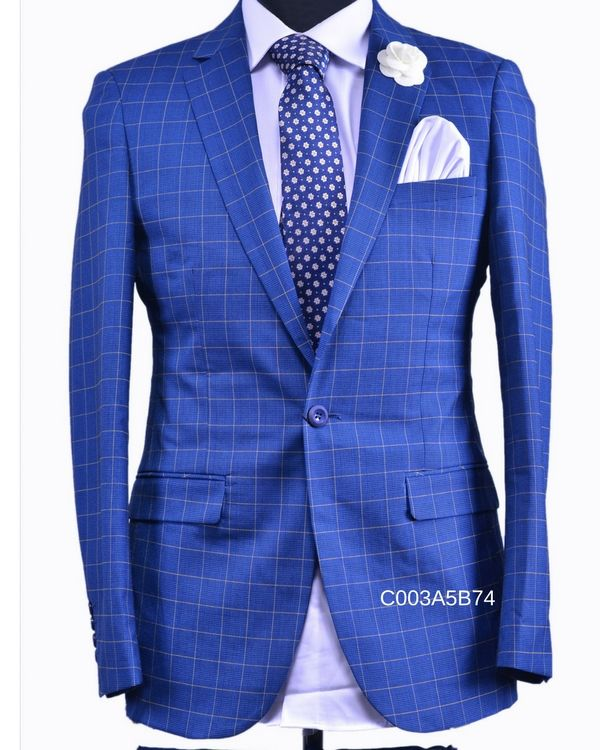 HUGO EXCLUSIVE (Blue check suit) //Price: $30000 & FREE Shipping //     #fashion #style #cute #love