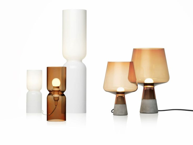 Lantern in copper and white and Lemiu small and large in Copper and concrete. Copper is big.