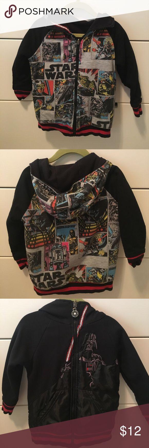 Reversible Star Wars hoodie Reversible Star Wars zip up hoodie.  Size 3.  Minimal wear.  Purchased from Nordstrom Star Wars Shirts & Tops Sweatshirts & Hoodies