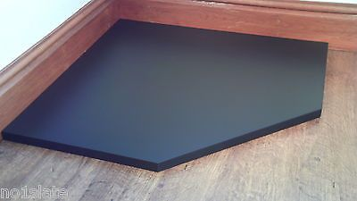BESPOKE BLACK SLATE HEARTH STONE - MADE TO MEASURE - inc corner fire hearths | eBay...This is it! Now to find someone who does this in melbourne!!