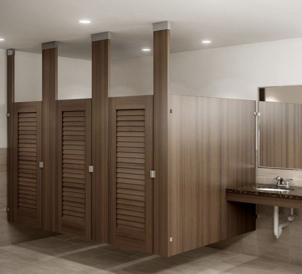 custom wood restroom partitions | Ironwood Manufacturing - Toilet Compartments | restroom partitions