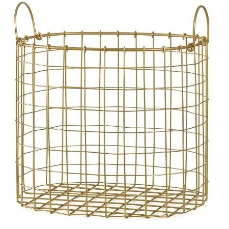 Decorative Gold Wire Bin - Room Essentials™ : Target