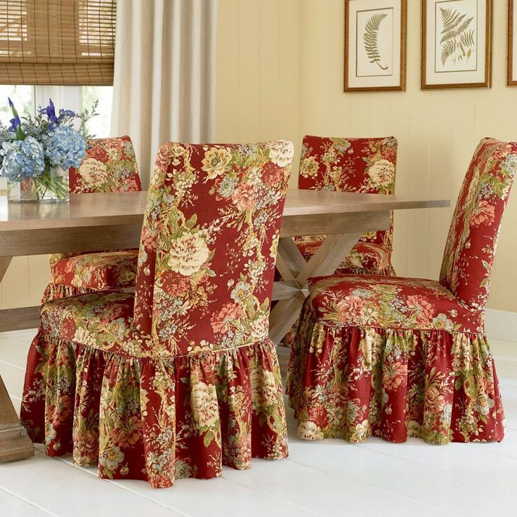 Floral Kitchen Chair Covers