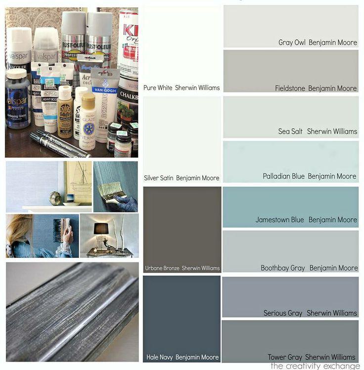 Popular Blue Gray Paint Samples Paint Colors Pinterest