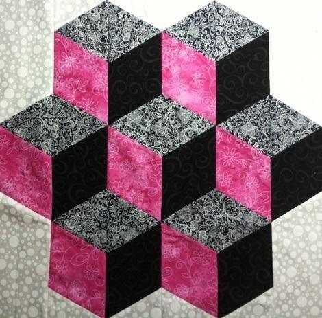 Tumbling Blocks - via @Craftsy
