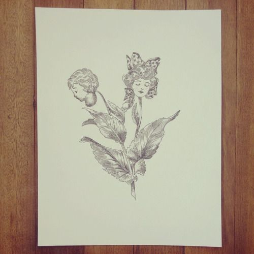 "De la Serie: "" Original Vs Copia: "" Planta dormilona "" "" #ink #plant #drawing #kid #art #Himallineishon #flower"