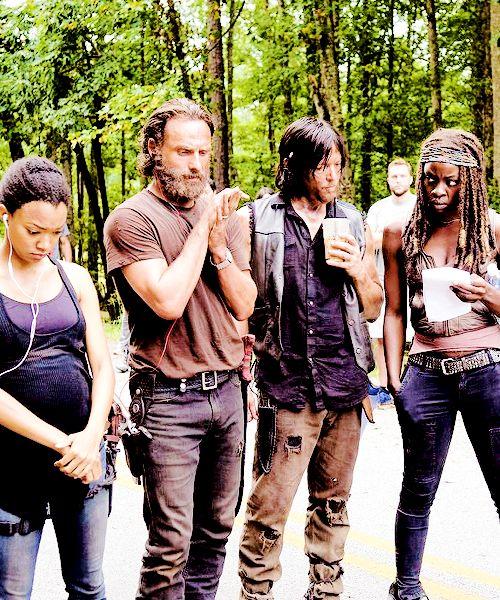 The Walking Dead behind the scenes