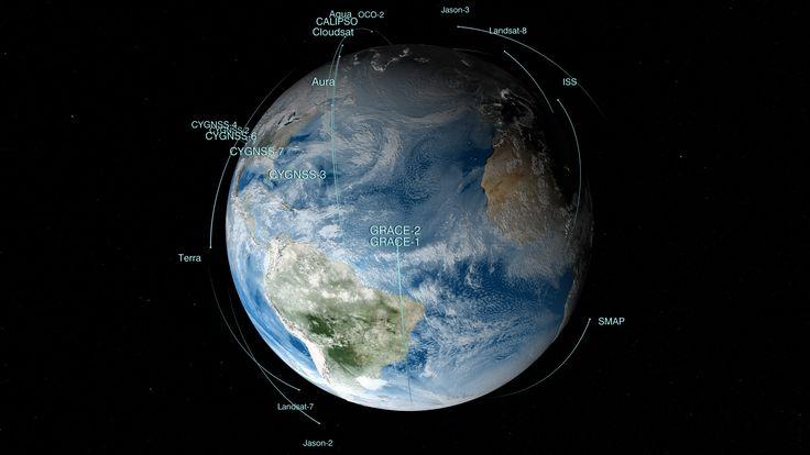NASA's Fleet of Satellites Keep an Eye on Earth #NASA #ImageoftheDay