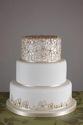 elegant cake 50th wedding anniversary