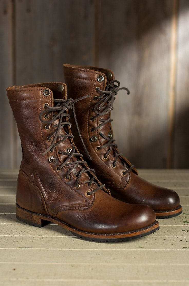 Men's Walk-Over Ian Fold-Over Leather Jump Boots | Boots ...