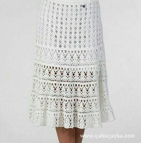 Белая юбка крючком схемы. Красивая модель летней юбки крючком со схемами.