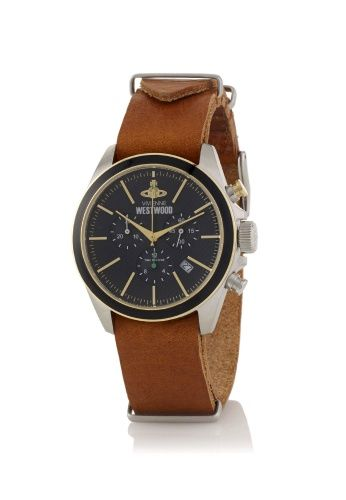 Black/Brown Camden Lock II Watch