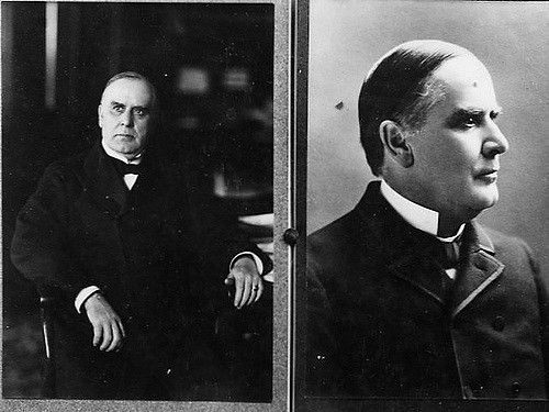 William McKinley (January 29, 1843 - September 14, 1901) was the 25th President of the United States. He was elected twiice, in 1896 and 1900, but was assassinated in 1901 at the Pan-American Exposition in Buffalo, New York. He fought the Spanish-American War to liberate Cuba, and afterwards annexed the Philippines and Puerto Rico, as well as Hawaii. He promoted high tariffs as a formula for prosperity, helped rebuild the Republican party in 1896 by introducing new campaign techniques, and…