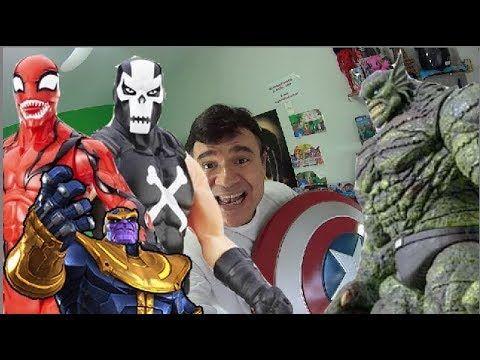 Thanos Guerras Infinitas e os bonecos do mal Carnificina Coringa Croc Ab...