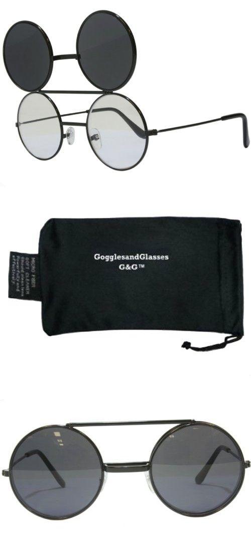 cb05d82edf G G Round Flip Up Sunglasses Black (Black