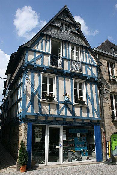 Une maison à Quimper. Bretagne.