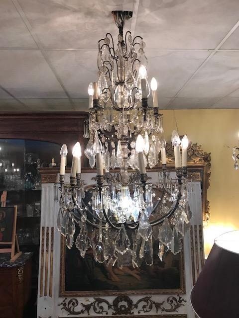 Large Chandelier Crystal Pendants Antiquites Charpentier Drocourt Proantic Ceiling Pendant Lights Crystal Chandelier Ceiling Lights