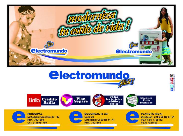 en Electromundo facilitamos la compra de tus electrodomésticos, ven a Electromundo y compra de la forma más Fácil !
