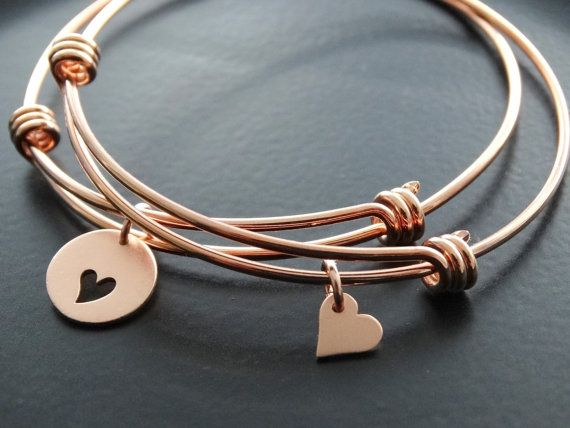 Bangle Bracelet Stainless Steel adjustable Bangle Bracelet Mothers day from daughter Rose Gold Mother and daughter Jewelry set Gift for Mom