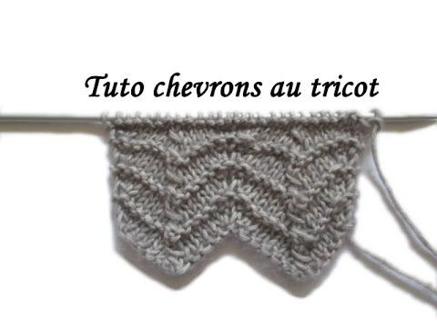 TRICOT - Point de chevrons - tutoriel