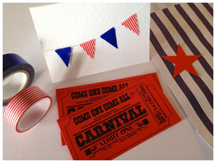 Tie your stationary in with your theme, this is the perfect example - Ticket stub invites