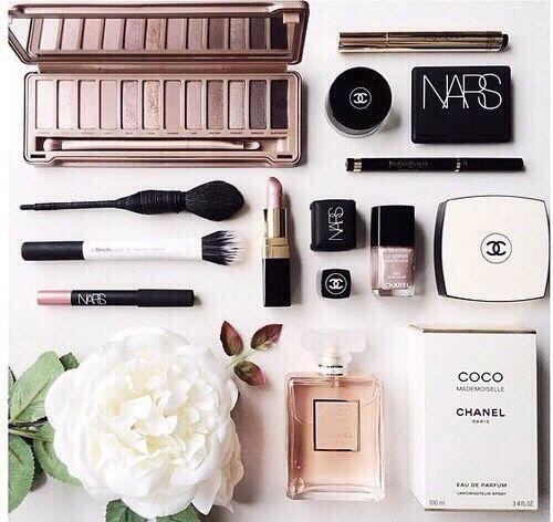 Pretty Makeup Flatlay