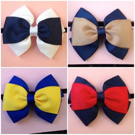 School Uniform bows in different colors by EverAfterFairytales, $4.50