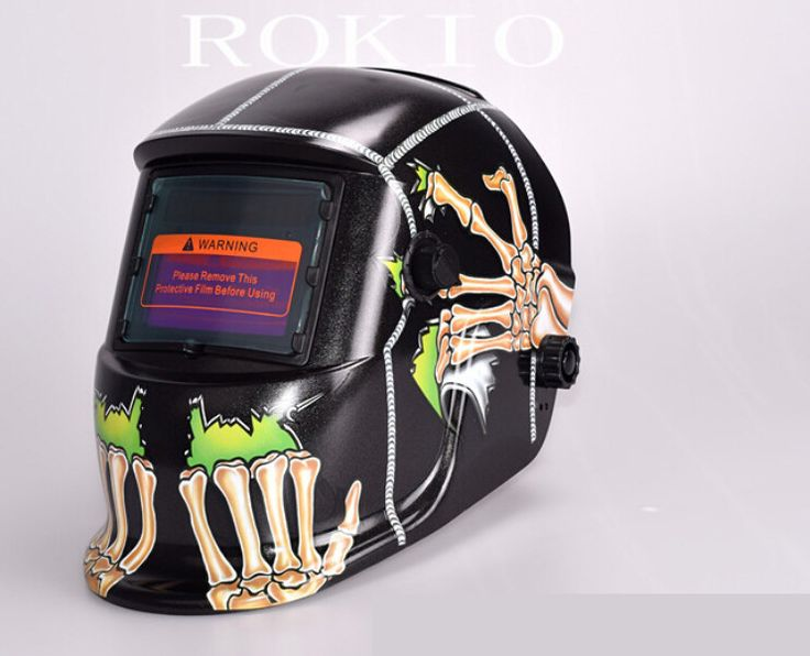 Welding helmet Skull head image  automatic light welding electrode mask all automatic solar power supply