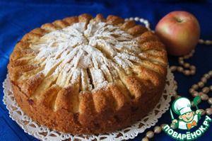 """Корнуэльский яблочный пирог Рецепт потрясающего воскресного пирога. Пирог-красавец! Пирог-открытие!! Пирог-сказка!!! Ингредиенты для """"Корнуэльский яблочный пирог"""": Масло сливочное — 220 г Сахар — 150 г Яйцо куриное — 3 шт Сметана — 1/2 стак. Мука — 250 г Разрыхлитель теста — 1 пакет. Ванильный сахар — 2 пакет. Сахар коричневый — 1 ст. л. Яблоко ( 500-600 г, кислые, твердые, лучше взять зеленые) — 4 шт"""