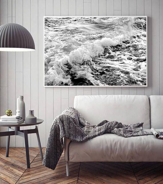 Sea Ocean Water Print Beach Decor Wall Art Waves Printable