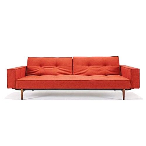 Splitback Deluxe Wood Base Sofa with Arms & Innovation Splitback Sofas | YLiving