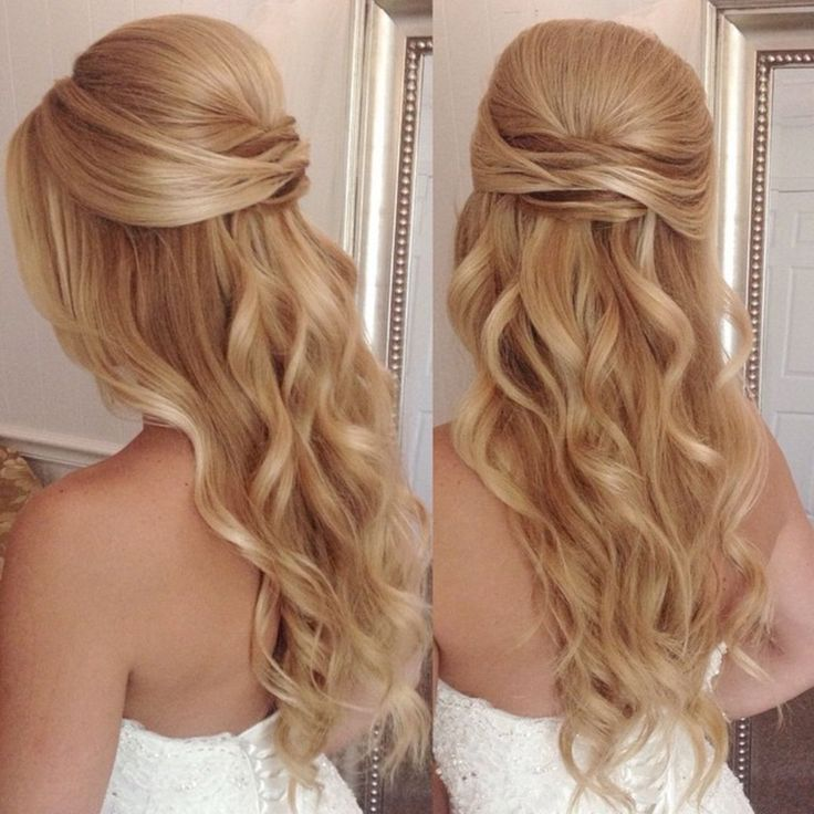 Perfect Half Up Half Down Wedding Hairstyles Trends no 51