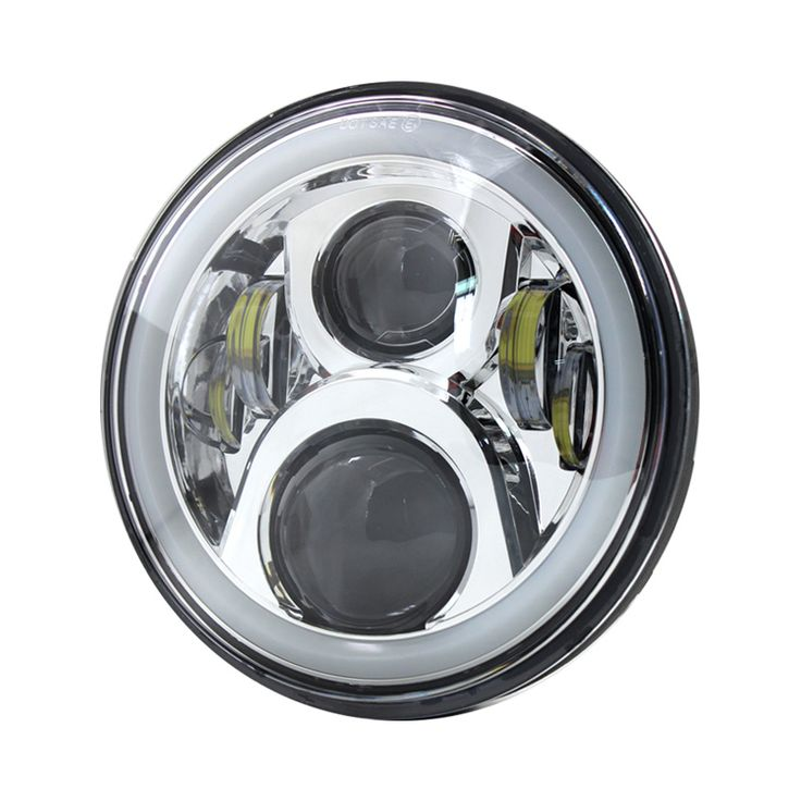 Free shipping Chrome 7 inch 65W Round LED Motorcycle H4 HeadLight With Halo Ring For Honda CB400 CB500 CB1300 Hornet 250 600 900