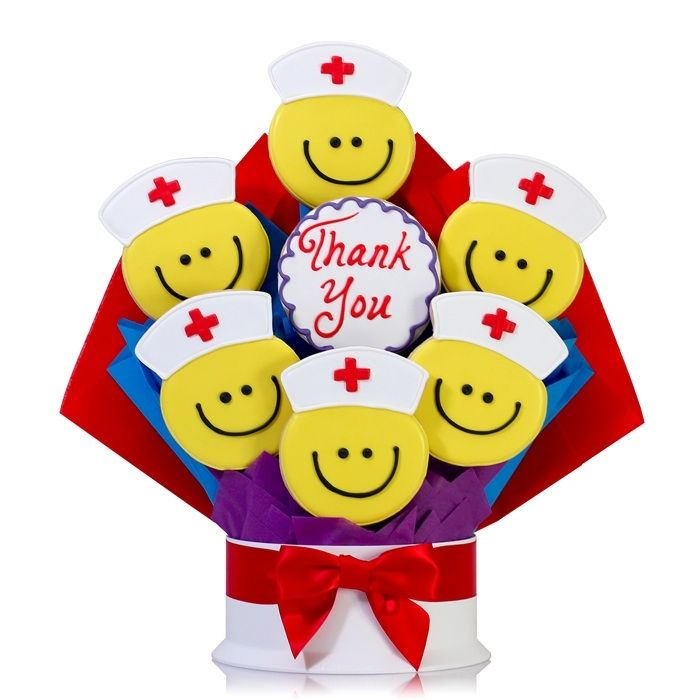 Nurses Thank You Smiles Cookie Bouquet. Would be a great gift to the nurses for delivery day!