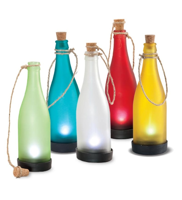 118 best bottle trees images on pinterest wine bottle for Diy solar wine bottle lights