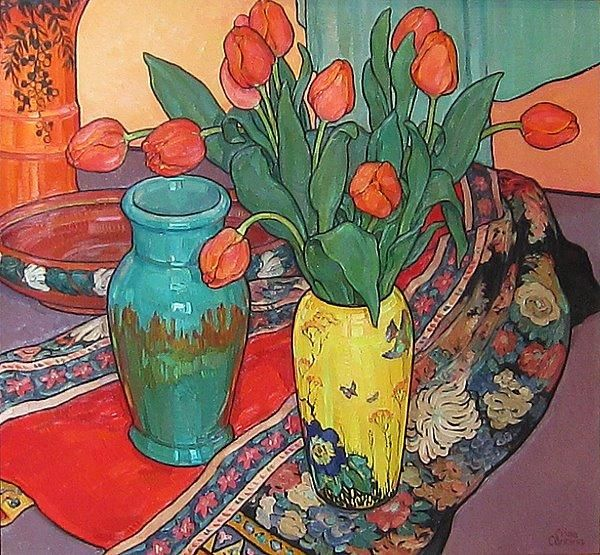Tulips and Kimono by Criss Channing