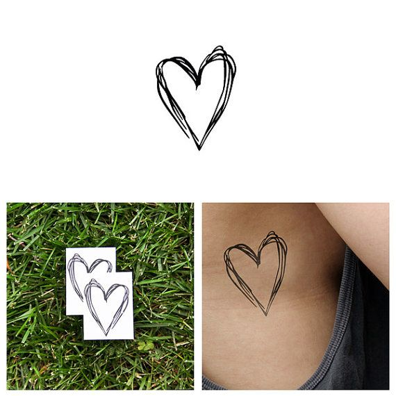 Heart's a Mess  Temporary Tattoo Set of 2 by Tattify on Etsy, $5.00 on my hip bone