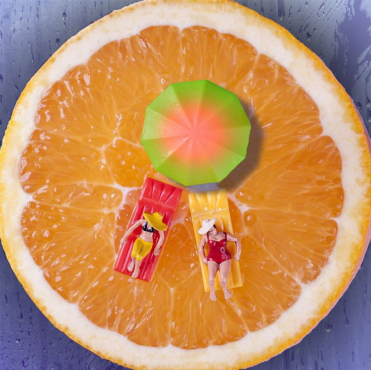 "Playing with food is not just for kids any more, as Brazilian artist William Kass proves with his imaginative ""Minimize – Food"" photo series."