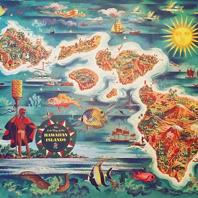1950 Dole Map of the Hawaiian Islands  found buried away last day of the epic four-day estate sale I leave no stone unturned #estatesale #estatesalefinds  #tikibar #kamehameha #hawaiianislands #hawaiimap #1950 #dolepineapple