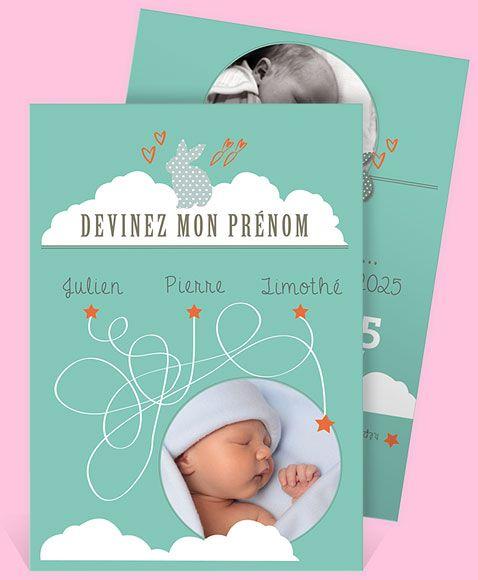 Faire-part naissance réf. N24146 - monFairePart.com