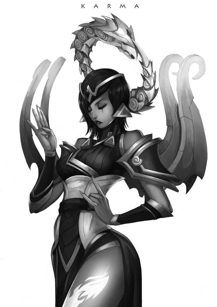Karma | League of Legends, Black and White, Video Games