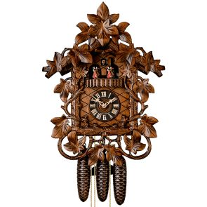 Traditional Cuckoo Clock with Ornate Leaves - HÖNES
