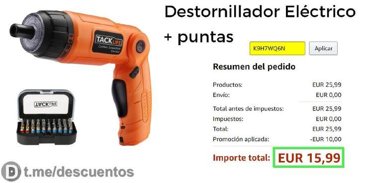 Destornillador eléctrico  puntas por 1599 - http://ift.tt/2tJeSsw