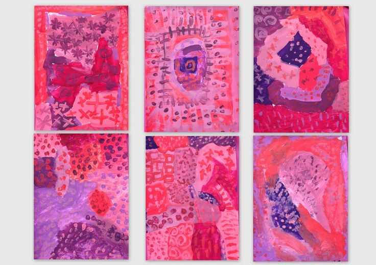 les petites têtes de l'art: Bleu sur bleu, rouge sur rouge, nuances et motifs...
