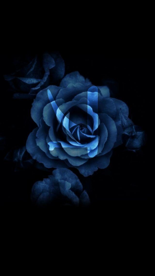 KSHMR❤️ #kshmr #kshmrlogo #logo #rose #blue #night #dark #wallpaper #gracethekshmrfan